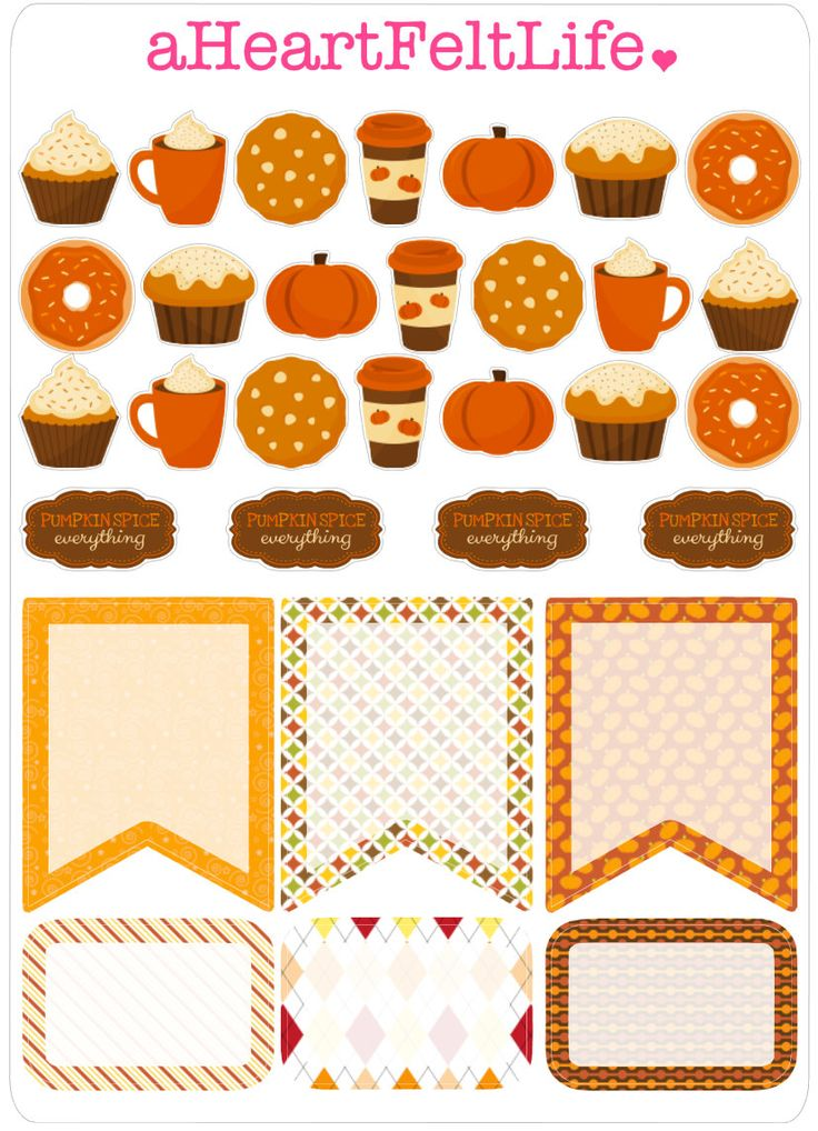 """Pumpkin Spice """"Everything"""" Stickers for your Planner, scrapbook, calendar, etc. by aHeartFeltLife on Etsy"""