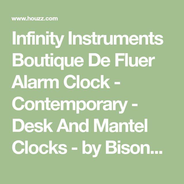 Infinity Instruments Boutique De Fluer Alarm Clock - Contemporary - Desk And Mantel Clocks - by BisonOffice