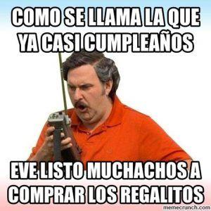 Memes de cumpleaños de Pablo Escobar