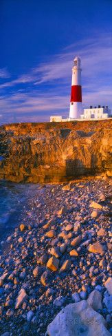 Lighthouse on the Coast, Portland Bill Lighthouse, Portland Bill, Dorset, England Photographic Print by Panoramic Images - at AllPosters.com.au