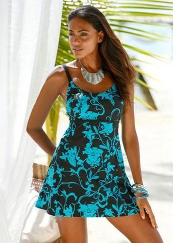 56838be8859  EBay  Plus Size Swimwear 2017 Extra Large Tankini Push Up Trikini Big  Bikini Set Women Beach Dress Print Swimsuit Vintage Bathing Suit