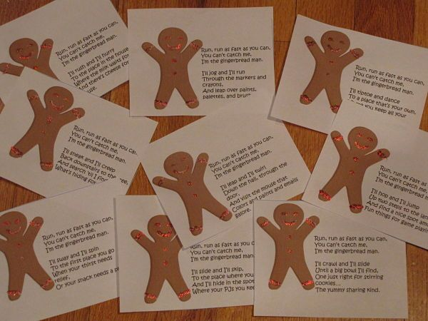 gingerbread hunt -- 9 clues / activiites for a day of gingerbread fun