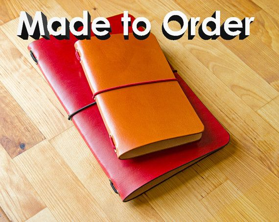 Leather Moleskine Cahier/Field Notes Notebook by LeodisLeather