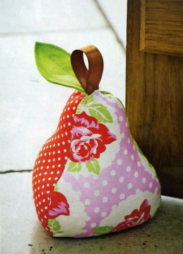 Pear door stopper pattern! I want this!