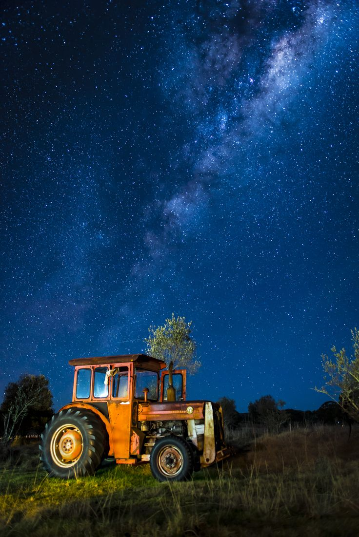 The Milky Way from Bolivia, NSW. #milkyway #tractor #photography