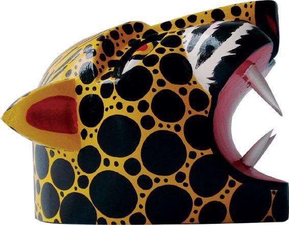 Mascara decorativa tigrillo del Carnaval de Barranquilla