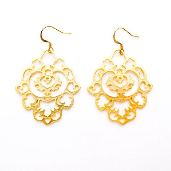 Gold Marocan Earrings