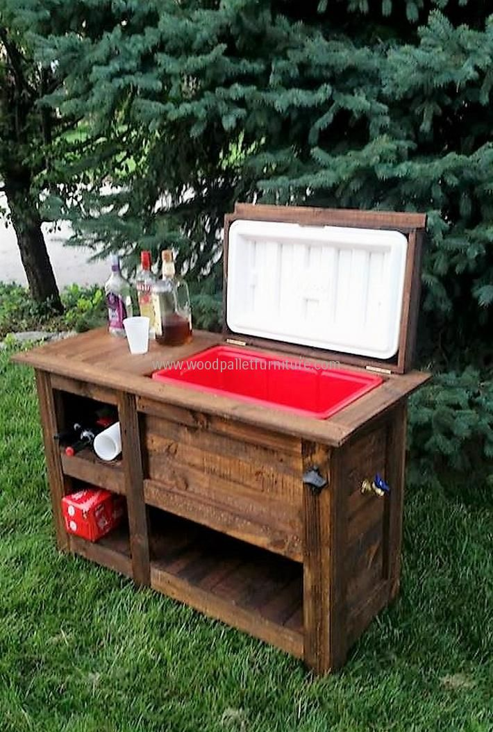 Best 25 cooler stand ideas on pinterest pallet cooler - Palette recyclee ...