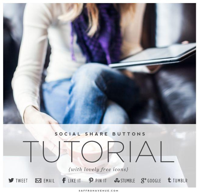 Tutorial :: Custom Social Share Buttons (advanced) :: Saffron Avenue