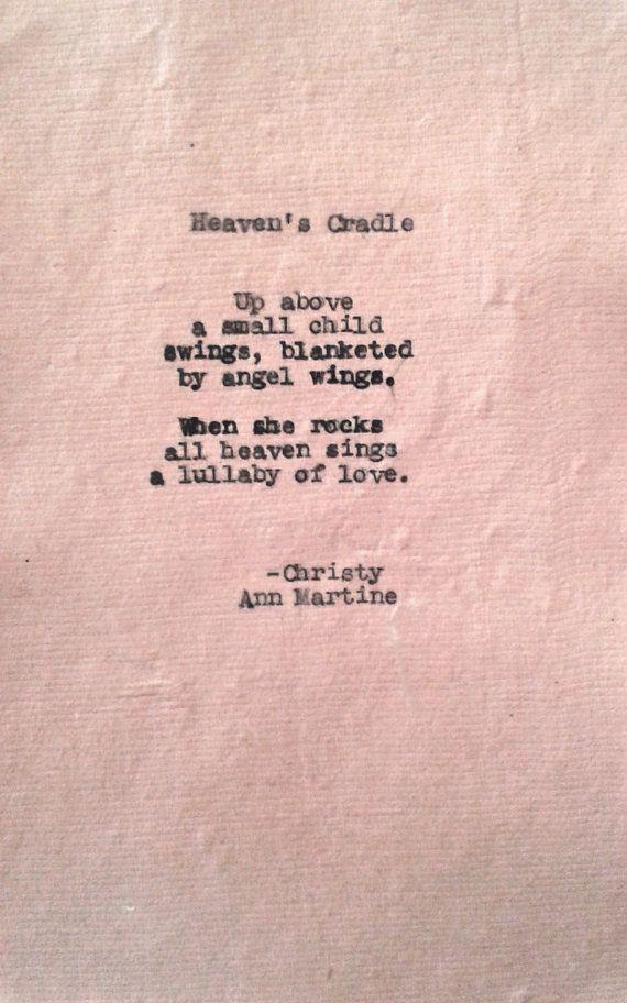 Heavens Cradle Grief Poem Sympathy Card by ChristyAnnMartine, $10.00