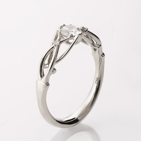 Platinum Engagement Rings to Love for a Lifetime | If you are looking for unique platinum engagement rings, start exploring different styles and influences. This organic design is strongly influenced by Celtic designs, resulting in a surprisingly refreshing and delicate ring.