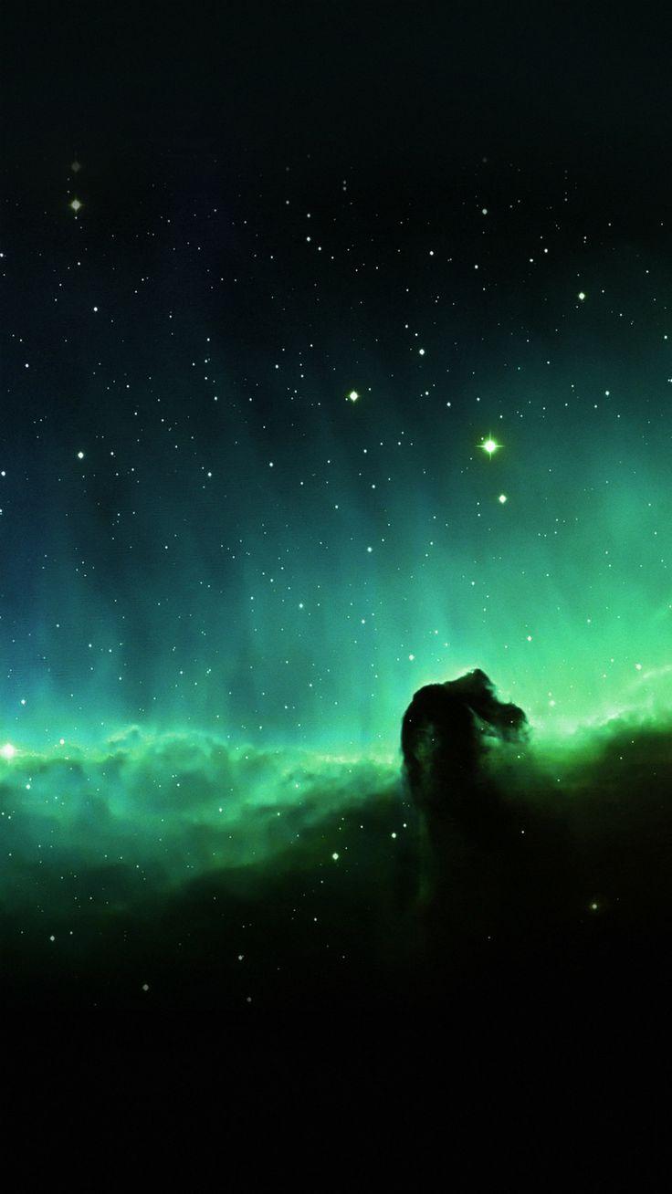 Horse Head Blue Nebula Sky Space Stars iPhone 6 plus