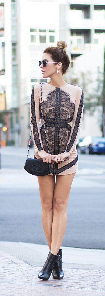 Dress - Three Floor, Bag - Chanel, Boots - Saint Laurent (image: thenativefox)