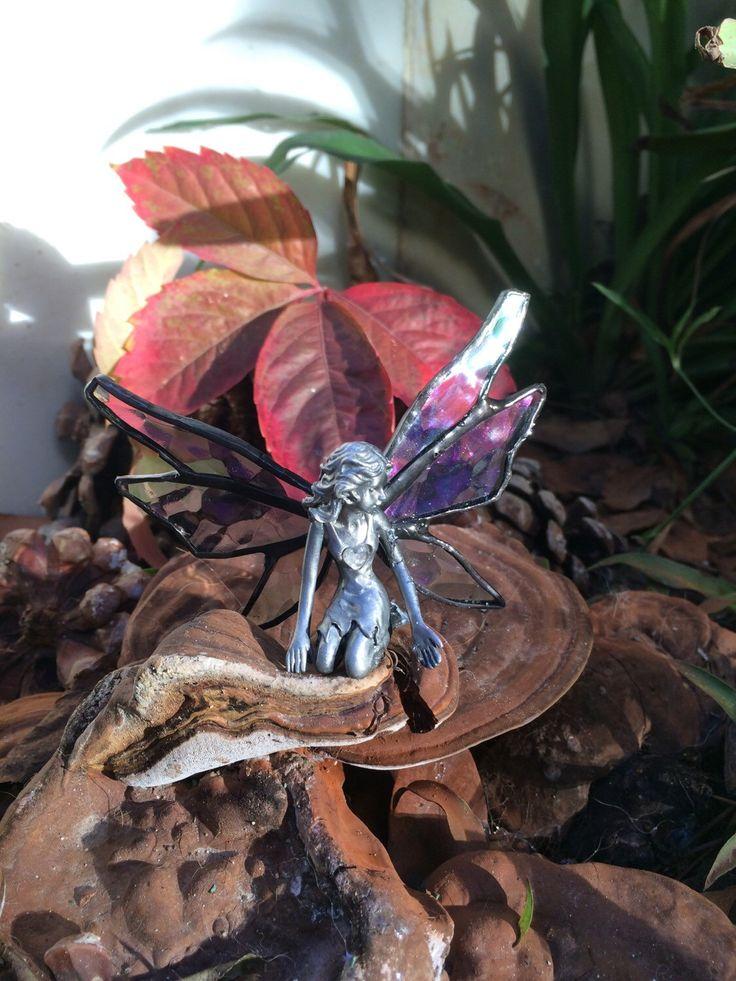 Een persoonlijke favoriet uit mijn Etsy shop https://www.etsy.com/listing/253799398/fairy-tiffany-fairy-garden-glass-fairy