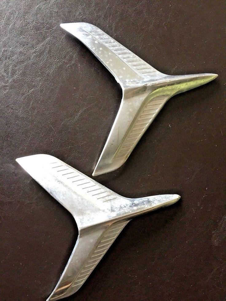 1960 60 CHEVY CHEVROLET BEL AIR QUARTER PANEL JET TRIM MOULDING EMBLEM ORNAMENTS #CHEVYBELAIR