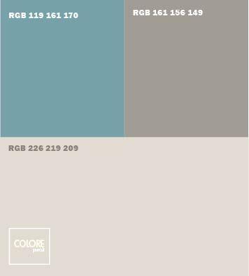 Abbinamento grigio azzurro grigio medio