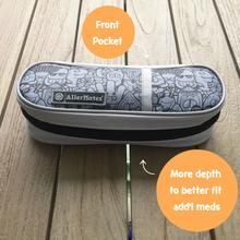 NEW! Insulated Medicine Case for Allergy Medicines like EpiPens or Auvi-Q/ Kids Pattern/ Gray