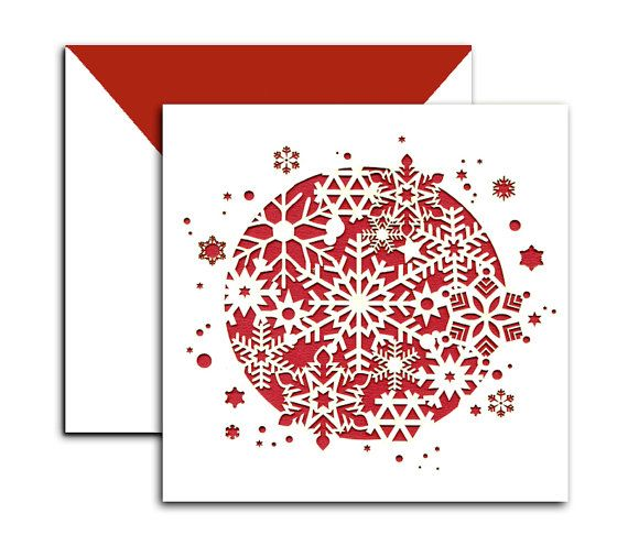 Bespoke Laser Cut Christmas Cards  Personalised by Laserlacedesign, £3.20