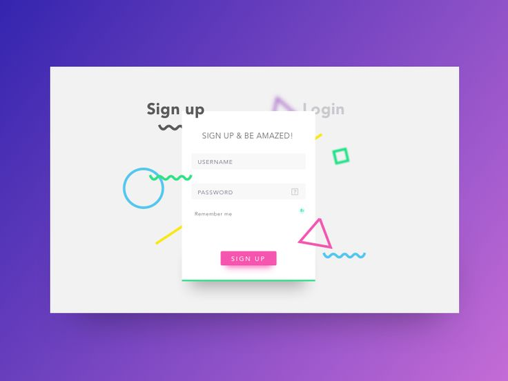 Signup Page Proposal by DUMMA - Dribbble