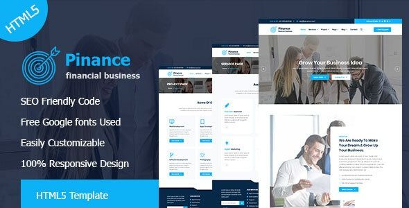 Pinance Financial Corporate Business Html5 Template Stylelib Html5 Templates Corporate Business Financial