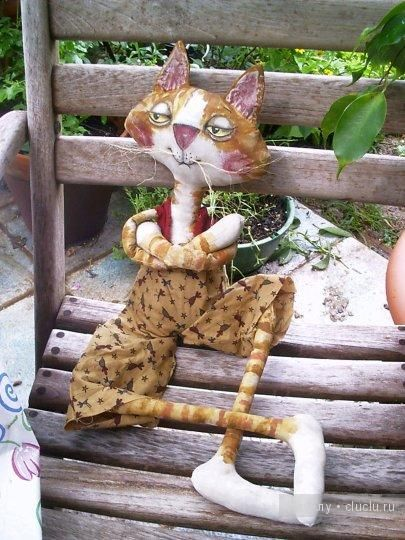 Авторская текстильная игрушка. Коты от Bermuda Angels