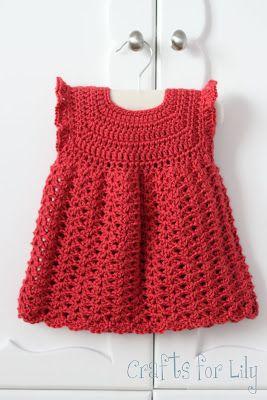 Red Pinafore free crochet pattern ..★ Teresa Restegui http://www.pinterest.com/teretegui/ ★..