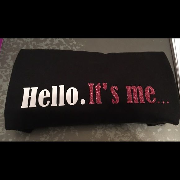 "Adele Hello It's Me Shirt Adele ""Hello. It's me..."" Long sleeve black fitted women's shirt. Soft and comfy! Choose your size! *Custom made* Tops Tees - Long Sleeve"
