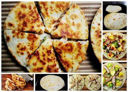 Gegrilde kip wraps/tortilla