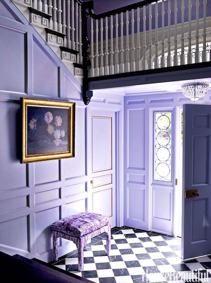 Intérieur Violet Couleur Peindre Couloir De Maison En Mauve Entrée