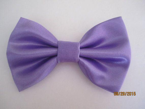 Wedding purple bow tie Men's purple satin bow by SewCuteSewCool