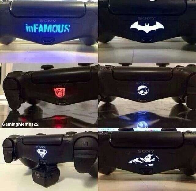 ps4 dualshock controller sticker collection to cover the move light do not work with camera - Ps4 Video Games