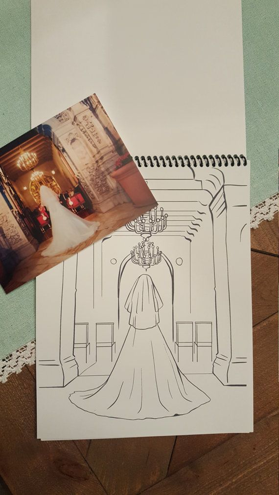 Custom Coloring Book. 1st Year Anniversary Gift! Turn your wedding photos into a coloring book!