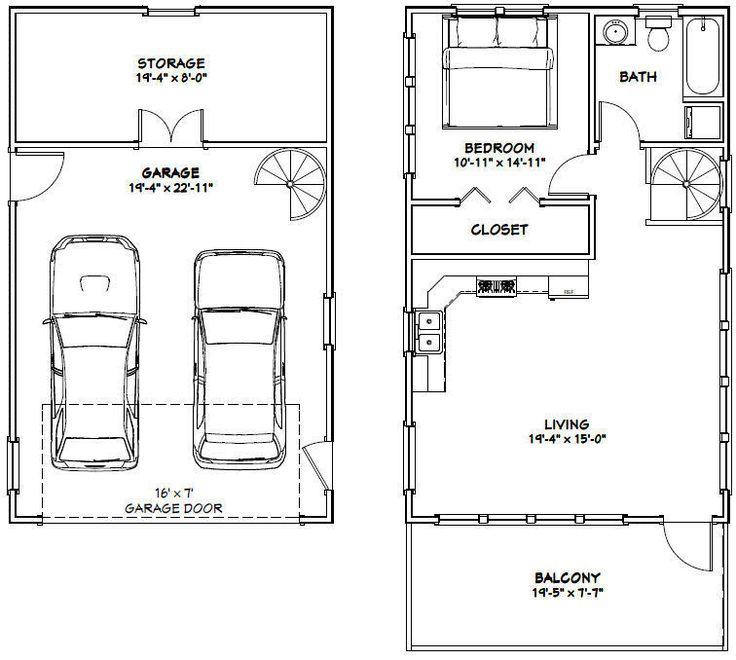 20x32 House 1 Bedroom 412 Roof Pitch PDF Floor