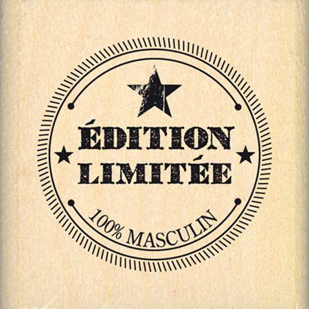 Tampon bois - 100 % Grunge - Edition Limitée - 3,7 x 3,7 cm