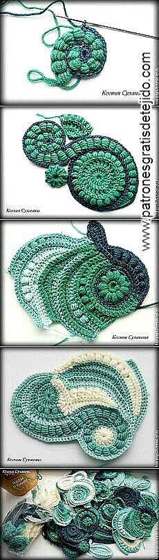 Cómo tejer freeform crochet