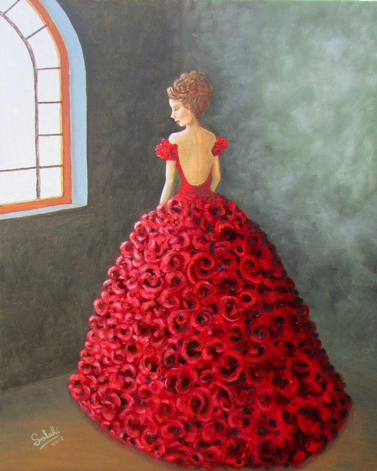 Vestida de rojo. Eduardo Salinas Rozas.