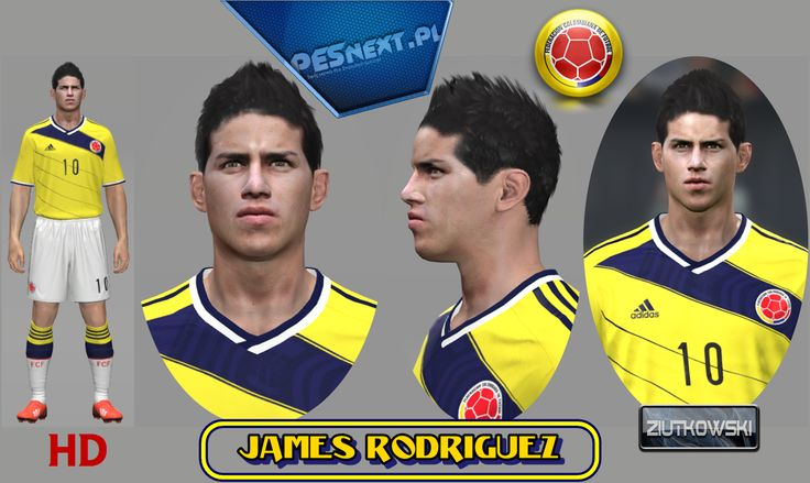 James Rodriguez face for Pro Evolution Soccer 2012