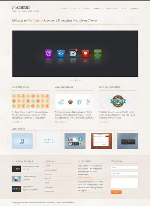 The Cotton – Minimalistic WordPress Business Theme