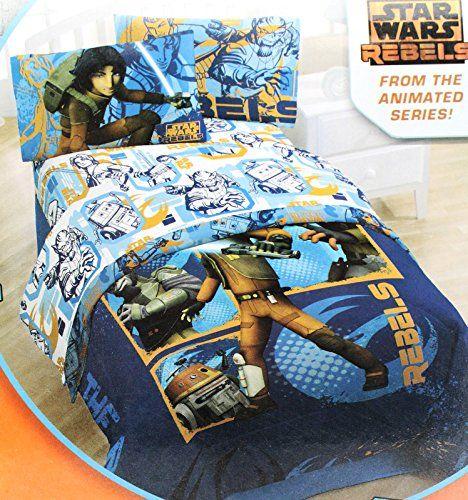 Star Wars Rebels Microfiber Full Size Bed Sheet Set @ niftywarehouse.com #NiftyWarehouse #Geek #Products #StarWars #Movies #Film