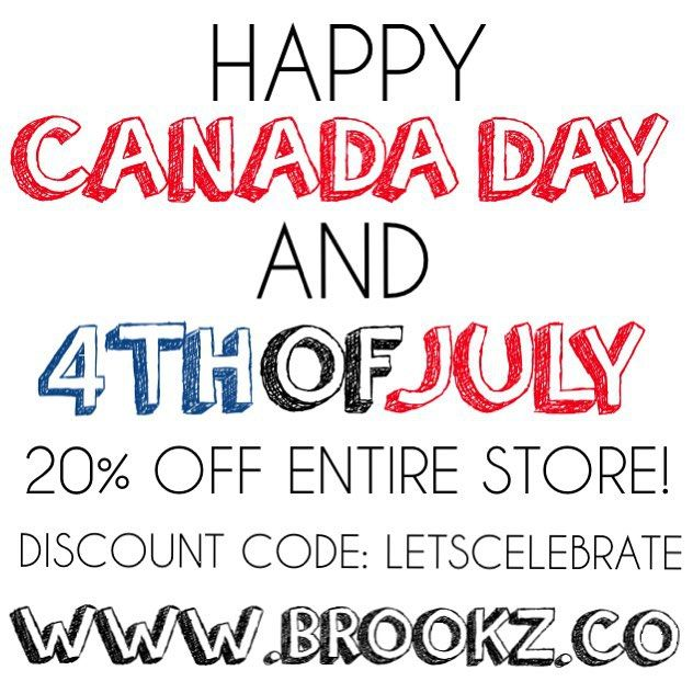 It's a new week but we're not done celebrating these two amazing countries! We're having our biggest sale yet!!! 20% off the entire store until July 8th, 12:00am (central time)! Don't forget to enter discount code: LETSCELEBRATE at checkout! We're fully stocked in most items but others are running low so grab yours before they'll all gone! ✖️www.brookz.co✖️ #brookz#sale#happycanadaday#happy4thofjuly#beanies#slouchybeanie#bowties#bibdanas#accessories