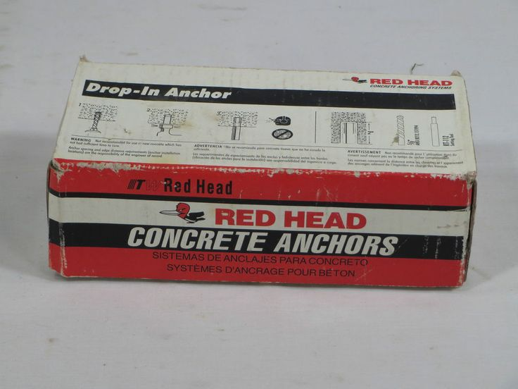 "NIB New Ramset Red Head 3/8"" RL-38 Drop In Concrete Anchors - Full Box 50 Pieces #RamsetRedHead"