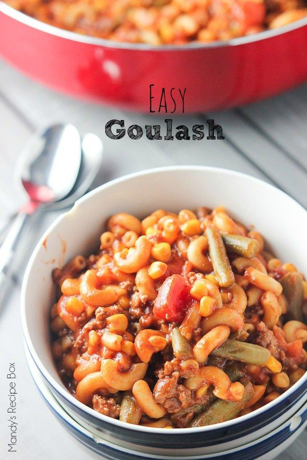 Quick and easy beef goulash recipe