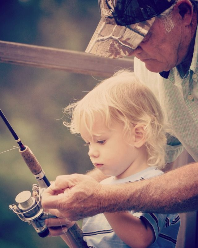 precious child and her Grandpa - let's go fishing!