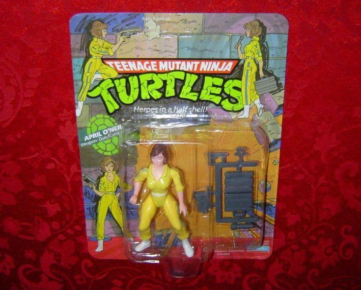 Teenage Mutant Ninja Turtles April O'Neil 1988 MOC TMNT Mirage Studios Playmates