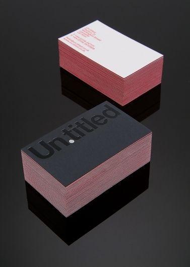 Un.titled ID business card design