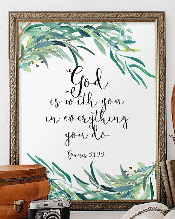 Biblical wall art quotes, bible verse wall art print