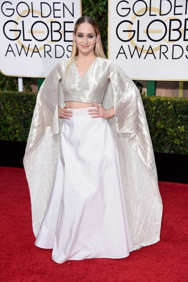 Golden Globes 2015: what they're wearing: Jemima Kirke in Rosie Assoulin
