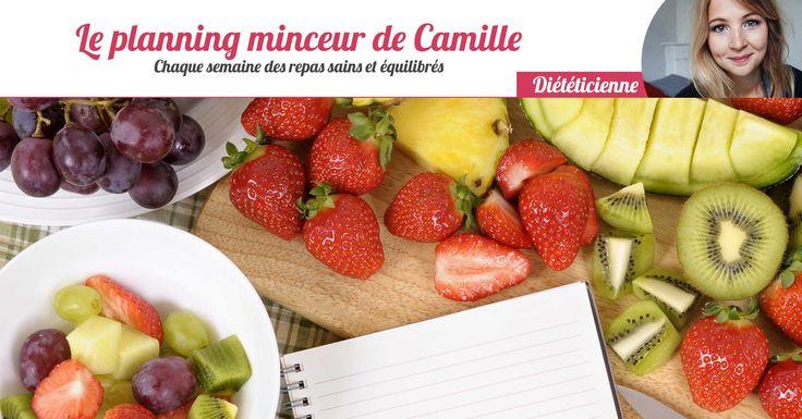 Camille, diététicienne, vous propose - chaque jour - des idées de repas minceur, sains et équilibrés. Ce programme est ouvert à tous et à toutes gratuitement