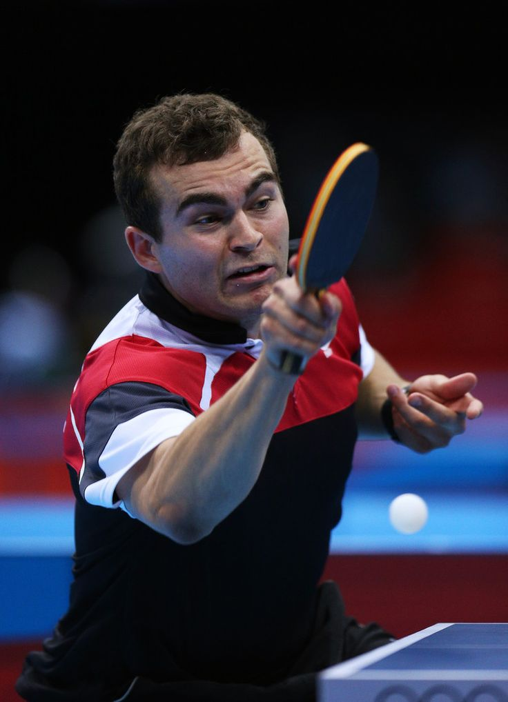 Day 1:  Table Tennis - Men's Singles - Pierre-Luc Hinse of Canada