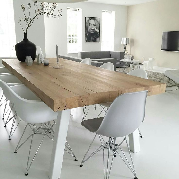 Modern Wood Dining Room Tables 32 best salle à manger images on pinterest | room, dining room and